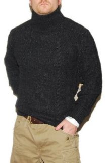 Polo Ralph Lauren Double RRL Mens Hand Knit Turtle Mock Neck Sweater Grey at  Men�s Clothing store