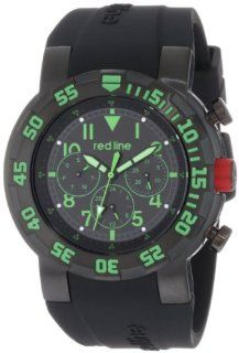 red line Men's RL 50027 BB 01GN RPM Black Dial Black Silicone Watch Red Line Watches