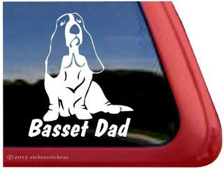 Basset Hound Dad Dog Vinyl Window Auto Decal Sticker Automotive