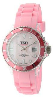 TKO ORLOGI Women's TK501 PK Venetia Plastic Case and Rubber Strap Watch Watches