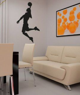 Vinyl Wall Decal Sticker Woman Basketball Player OS_AA507s   Wall Decor Stickers