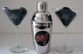 NFL Officially Licensed Tampa Bay Buccaneers Martini Gift Set Kitchen & Dining