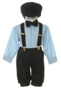 Vintage Dress Suit Tuxedo Knickers Outfit Set Baby Boys & Toddler Navy Blue Pinstripe Clothing