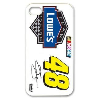 Custom Jimmie Johnson Cover Case for iPhone 4 WX2709 Cell Phones & Accessories