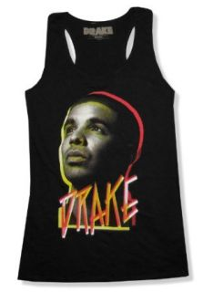 "Bravado Juniors Drake ""Face"" Racerback Black Tank Top Shirt (3X Large) Tank Top And Cami Shirts"