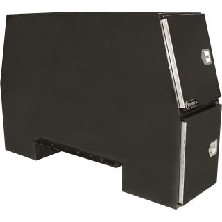 Buyers Products Steel Heavy-Duty Backpack Truck Box — Black, 85in.L x 55in.W x 24in.H, Model# BP855524B  Rack Boxes