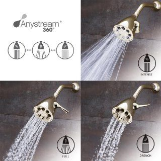 Speakman S 2251 PB Icon Anystream High Pressure Adjustable Shower Head, Polished Brass   Fixed Showerheads