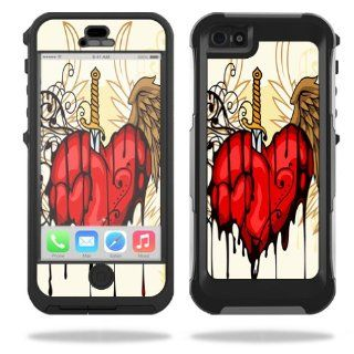 MightySkins Protective Vinyl Skin Decal Cover for OtterBox Preserver iPhone 5 / 5S Case Sticker Skins Stabbing Heart Cell Phones & Accessories