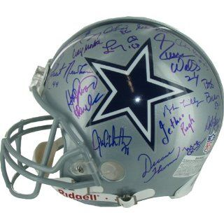Steiner Sports NFL Dallas Cowboys Greats Team Signed Helmet  Sports Related Collectible Helmets  Sports & Outdoors