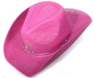 Peter Grimm Bright Pink Bling Tiara Girls Cowboy Hat   Kids Clothing