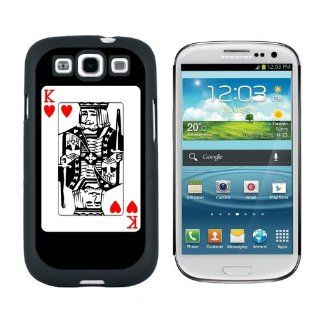 Playing Cards King of Hearts   Poker   Snap On Hard Protective Case for Samsung Galaxy S3   Black Cell Phones & Accessories