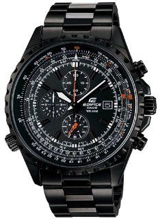 Men's Stainless Steel Edifice Black Label Black Dial Tachymeter at  Men's Watch store.