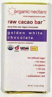 Organic Nectars Raw Cacao Bar Golden White Chocolate    1.4 oz Health & Personal Care