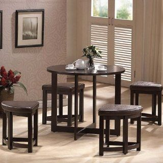 Shop Baxton Studio Rochester Brown Modern Bar Table Set with Nesting Stools at the  Furniture Store