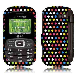 Rainbow Dots Hard Phone Cover Case for LG Octane VN530 Cell Phones & Accessories