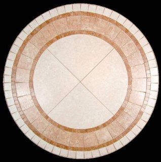 "Angelfire Natural Mosaic Stone Table Top 36"" Round   Coffee Tables"