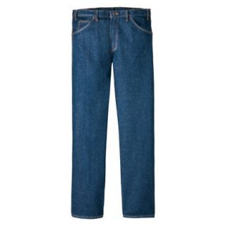 Dickies Mens Regular Fit 5 Pocket Jean   Indigo Blue 40x36