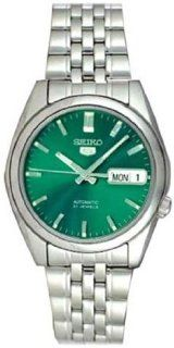 Seiko Seiko 5 Men's Stainless Steel Seiko 5 Automatic Green Dial SNK543 at  Men's Watch store.