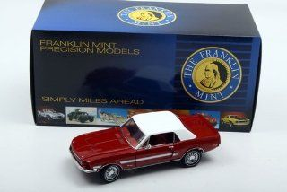 1968 Mustang High Country Special in Candy Apple Red in 124 Scale by the Franklin Mint Toys & Games