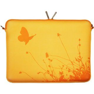 "DIGITTRADE LS114 17 Summer Butterfly Designer Notebook Sleeve 17.3"" Laptop Cover Summer Butterfly Neoprene Soft Carry Case up to 17.3 Inch Anti Shock System Computers & Accessories"
