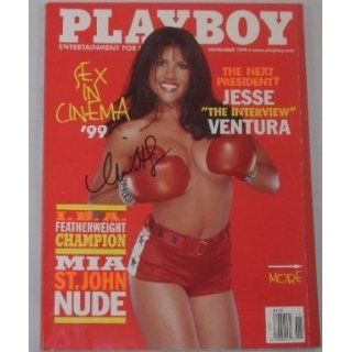Mia St. John Sexy Signed Autographed 1999 Playboy Magazine Loa Entertainment Collectibles