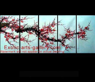 Asian Painting Chinese Cherry Blossom Painting Feng Shui Art 5 557   Oil Paintings