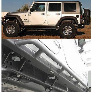 Or Fab 84207 Wrinkle Black Rocker Panel with Bar for Jeep Wrangler JK Automotive