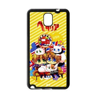 Yellow Stripes Hetalia Samsung Galaxy Note 3 Case Cover TPU Axis Powers English America Buses Cell Phones & Accessories