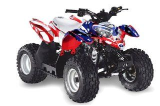 AMR Racing Polaris Outlaw 50 2002 2011 ATV Quad Graphic Kit   Stars n Stripes Automotive