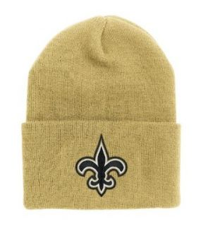 NFL End Zone Cuffed Knit Hat   K010Z, New Orleans Saints, One Size Fits All  Clothing