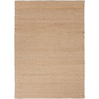 Handmade Naturals Solid pattern Brown Area Rug (5 X 8)
