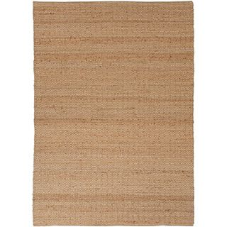 Handmade Naturals Solid Pattern Brown Rug (26 X 4)