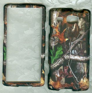 Rubberized Samsung Focus Flash I677 At&t Faceplate Cover Phone Case Camo Leaf Cell Phones & Accessories