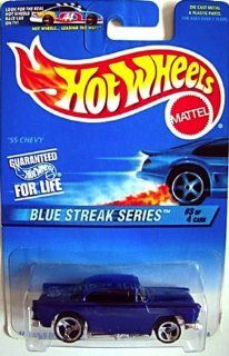 Hot Wheels 1997 Blue Streak Series #2 '55 Chevy #575 164 Scale Toys & Games