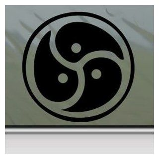 Signet Triskelion Symbol Story Of O Black Sticker Decal Car Window Wall Macbook Notebook Laptop Sticker Decal   Decorative Wall Appliques