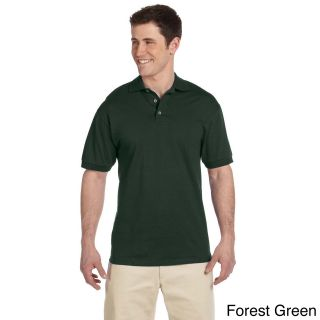 Jerzees Mens Heavyweight Cotton Jersey Polo Shirt Green Size XXL