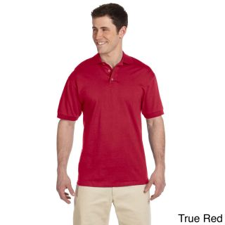 Jerzees Mens Heavyweight Cotton Jersey Polo Shirt Red Size XXL