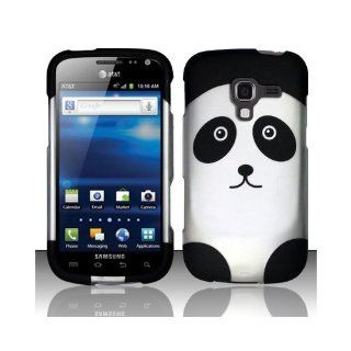 White Black Panda Bear Hard Cover Case for Samsung Galaxy Exhilarate SGH I577 Cell Phones & Accessories