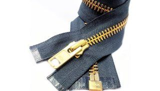 "Sale 28"" Chaps Zipper (Special) YKK #10 Extra Heavy Duty Brass Separating Zipper ~ Color 579 Charcoal Grey (1 Zipper / Pack)"