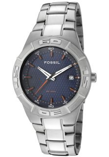 Fossil AM3992  Watches,Mens Blue Collection Navy Blue Textured Dial Stainless Steel, Casual Fossil Quartz Watches