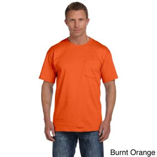 Fruit Of The Loom Fruit Of The Loom Mens Heavyweight Cotton Chest Pocket T shirt Orange Size XXL