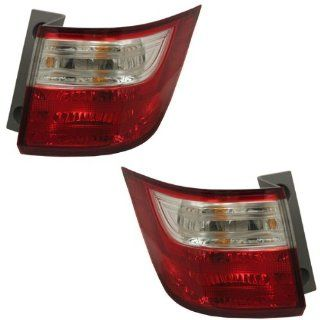 2011 2012 2013 Honda Odyssey Taillight Taillamp Rear Brake Tail Light Lamp (Quarter Panel Outer Body Mounted) Pair Set Right Passenger And Left Driver Side (11 12 13) Automotive