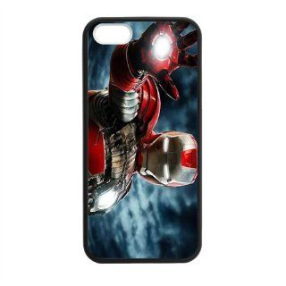Custom Iron Man New Laser Technology Back Cover Case for iPhone 5 5S CLT606 Cell Phones & Accessories