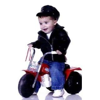 Size 2 4 Toddler   Baby Biker or Greaser Costume   Jacket and Hat Only Clothing