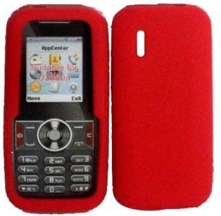 Red Soft Silicone Gel Skin Cover Case for Huawei U2800A Cell Phones & Accessories