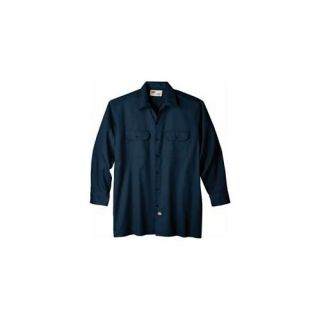 Dickies Extra Extra Large Navy Mens Long Sleeve Work Shirt  WL574NV 2X ARCHIVE