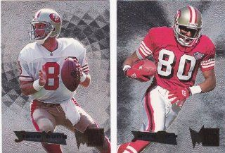 (Jerry Rice) (Steve Young) 1995 Fleer Metal Football (Preminum Card Technology) (San Francisco)  Sports Related Trading Cards  Sports & Outdoors