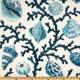 54'' Wide P Kaufmann Sea Shell Branch Pacific Fabric By The Yard
