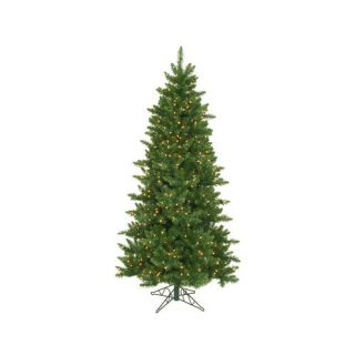 Vickerman Co. Camdon Fir 6.5 Green Artificial Slim Christmas Tree with 550 Clear Lights with Stand Christmas Decor