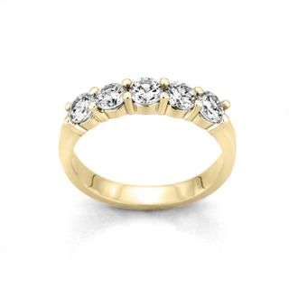 online only 1 4 ct t w diamond five stone band in 10k gold orig $ 549